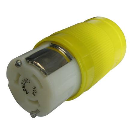 Marinco 6364CRN Locking Connector, 50A 125/250V