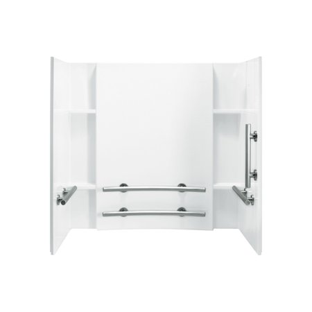 Biscuit Accord - Sterling 71154123-0 Accord Vikrell Bathtub Wall Surround, White