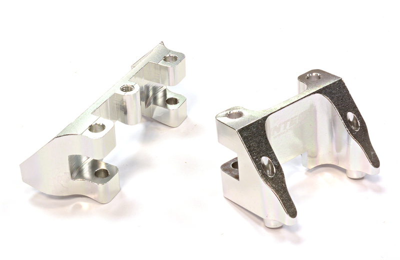 Integy RC Toy Model Hop-ups C25790SILVER Billet Machined Shock Mount (2) for Traxxas 1 10... by Integy