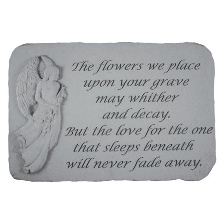The Flowers We Place Upon Your Grave Memorial - Grape Stone