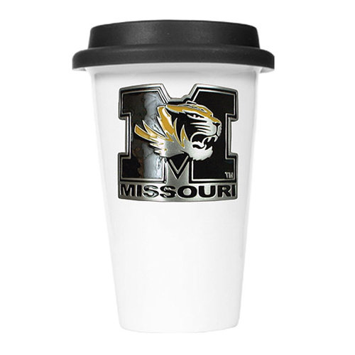 NCAA - Missouri Tigers 12oz. Double Wall Tumbler with Silicone Lid