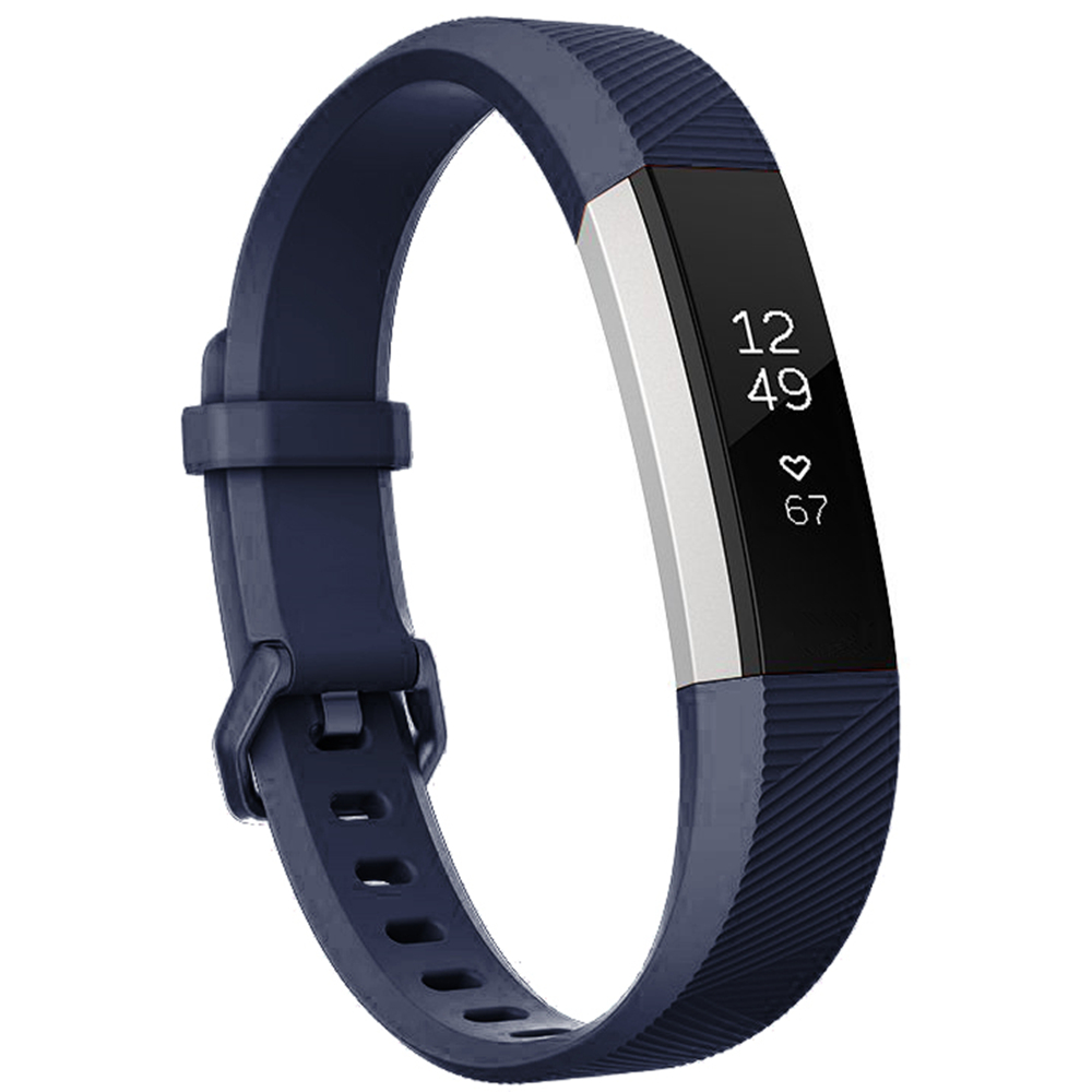 Moretek For Fitbit Alta/Fitbit Alta HR Replacement Bands, Sport Silicone Wrist Band Straps for Fitbit Alta/Fitbit Alta HR Women&Men (Navy Blue)