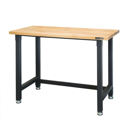 Groovy Ultrahd 4 Foot Heavy Duty Workbench 48 X 24 Satin Graphite Theyellowbook Wood Chair Design Ideas Theyellowbookinfo
