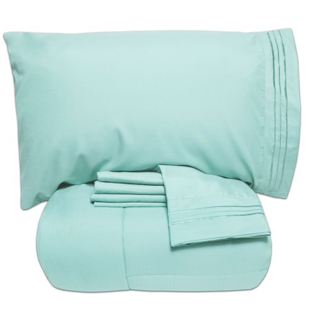 Luxury 5 Piece Bed-In-A-Bag Down Alternative Comforter & Sheet Set ()