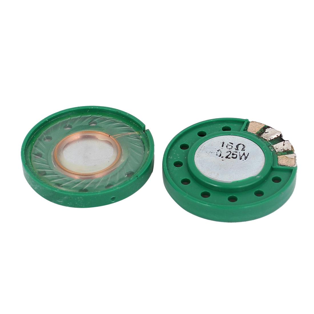 0.25W 16 Ohm 29mm Dia External Magnet Speaker Horn Loudspeaker 2 Pcs