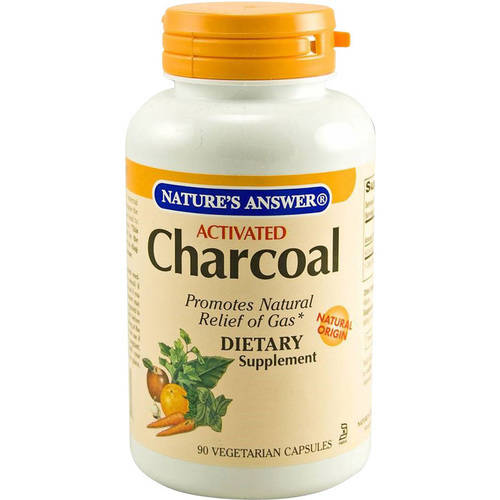 Nature's Answer Charcoal, Activated, Vegetarian Capsules, 90 CT
