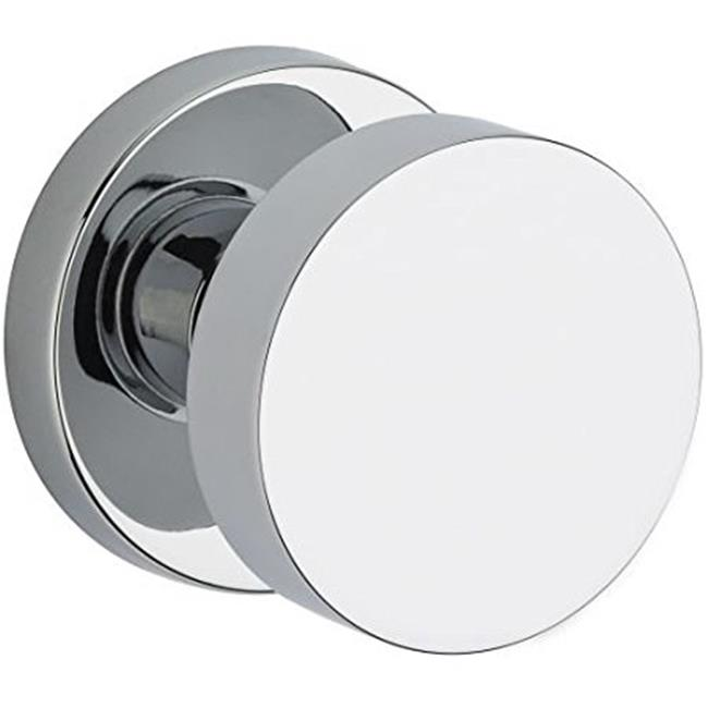 Baldwin PVCONCRR260 Modern Privacy Door Knob Set with Modern Round Rose - Polished Chrome