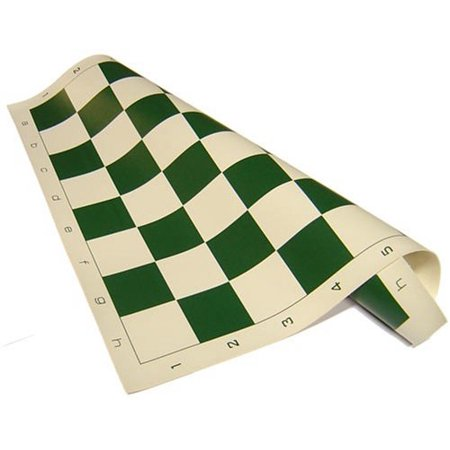 Chess Board - Standard Vinyl Roll-up in Green (Best Games For Five Year Olds)