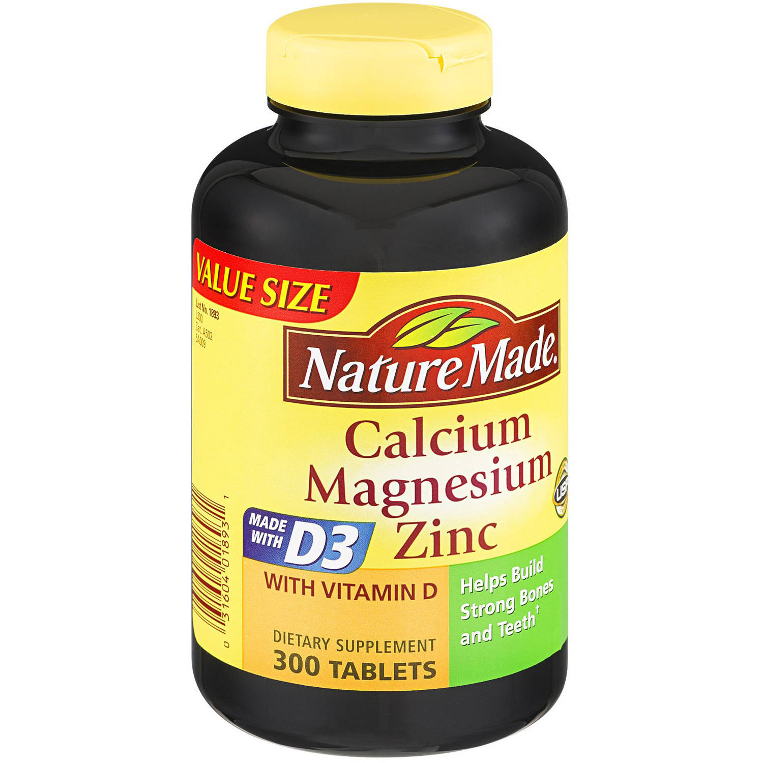 Nature Made Cal Mag Zinc, 300 CT (Pack of 3)
