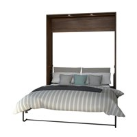 Atlin Designs Queen Wall Bed in Oak Barrel and White