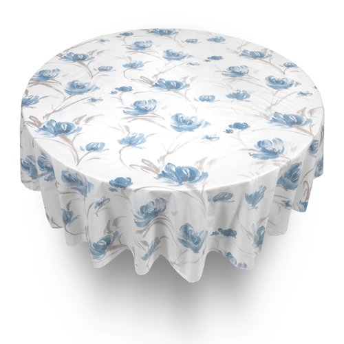 Symple Stuff Georgia Round Vinyl Flannel Backed Tablecloth