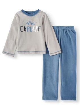 Championship Gold Boys' Long Sleeve Thermal Pajamas, 2-Piece Set