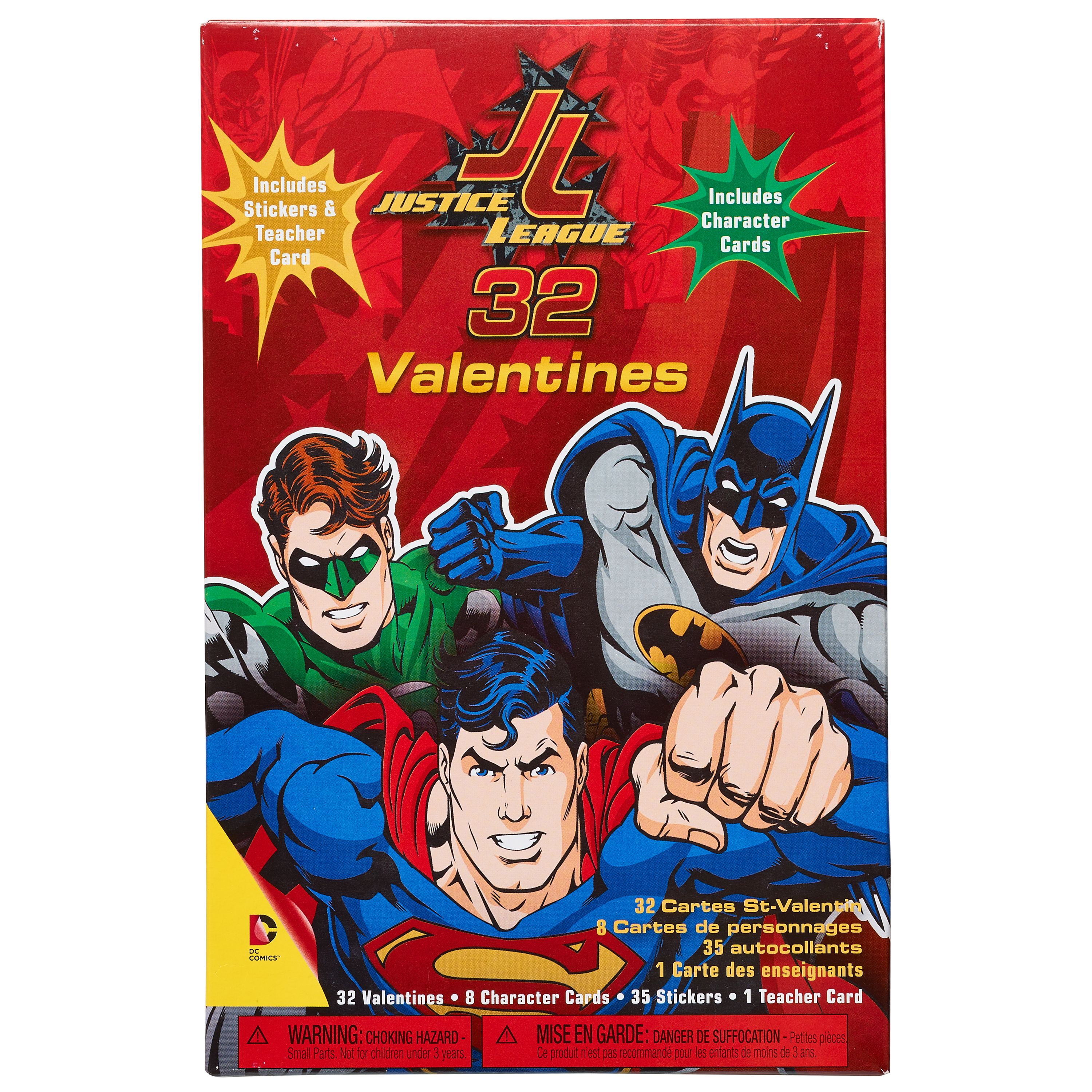 Justice League Valentine S Day Exchange Cards 32 Count With