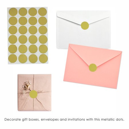 Sticker Dots in Gold colored  label 25mm - 360 pack by Royal Green - image 5 de 7