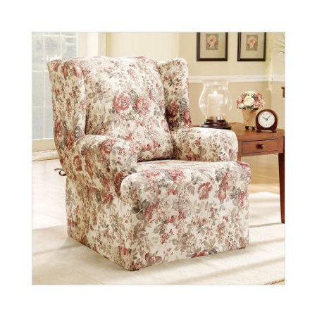 sure fit chloe wing chair slipcover walmart com