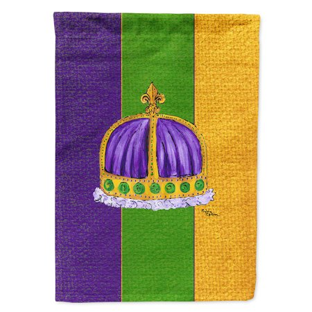 Mardi Gras Flag Canvas House Size