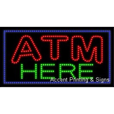 - ATM Here LED Sign (High Impact, Energy Efficient)