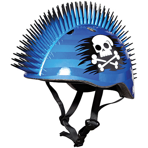 Raskullz Pirate Mohawk Blue/Black Bike Helmet, Child
