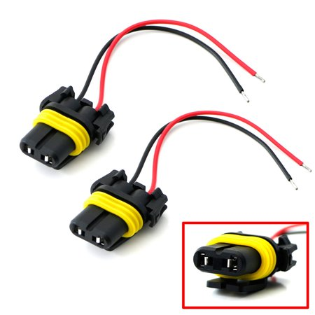 9006 Headlight Wire Harness - iJDMTOY (2) 9006 9012 HB4 Female Adapter Wiring Harness Sockets w/4-Inch Wires For Headlights Fog Lights Repair or Retrofit