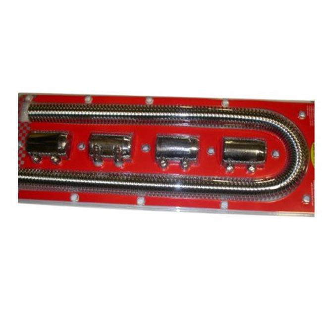 R7311 48 ft. Stainless Steel Radiator Hose Kit, Chrome - image 1 of 1
