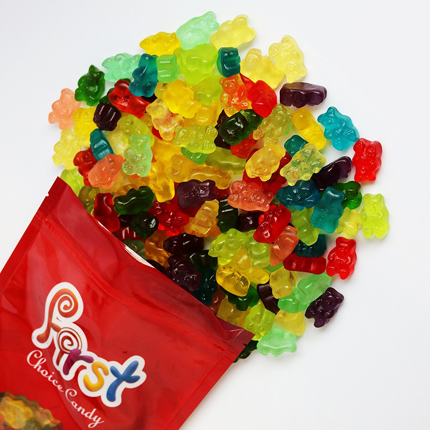 FirstChoiceCandy Albanese 12 Flavor Gummy Bears 2 Pound Resealable Bag by