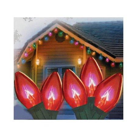brite star 50ct c7 led string lights red 16 3 39 green. Black Bedroom Furniture Sets. Home Design Ideas