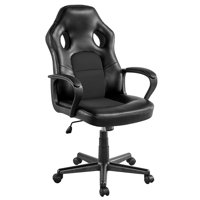 SmileMart Faux Leather Adjustable Swivel Gaming Chair