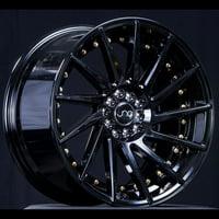 "JNC Wheels - 19"" JNC051 Gloss Black/Gold Rivet Rim - 5X112 - 19X9.5 inch JNC051GBGRV"