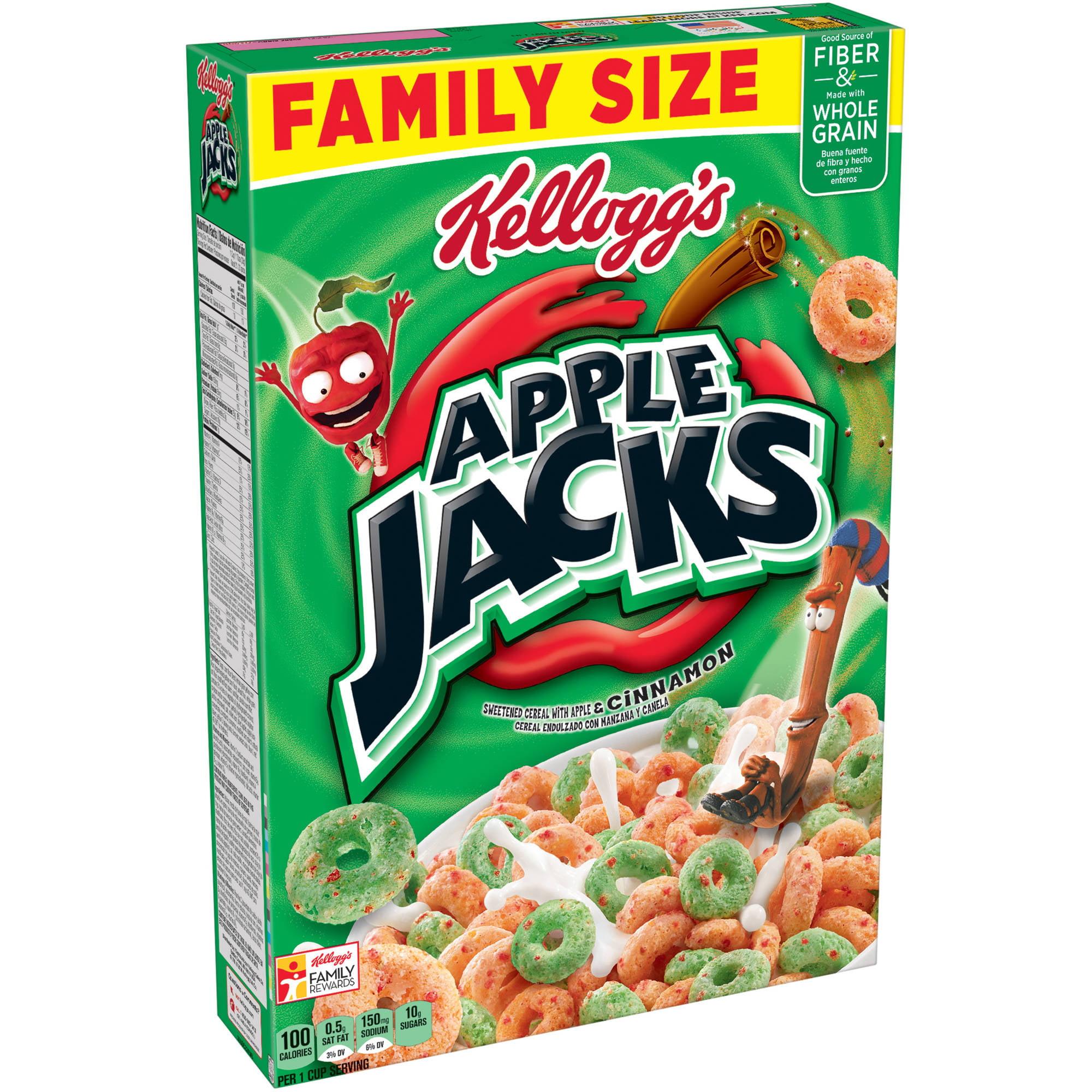 Kellogg's Apple Jacks Cereal, 21.7 oz