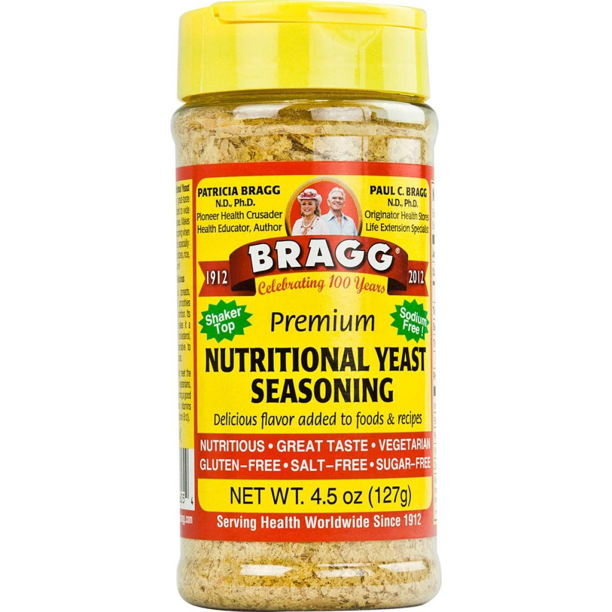 Bragg Premium Sodium Free Nutritional Yeast Seasoning, 4.5 OZ by Bragg