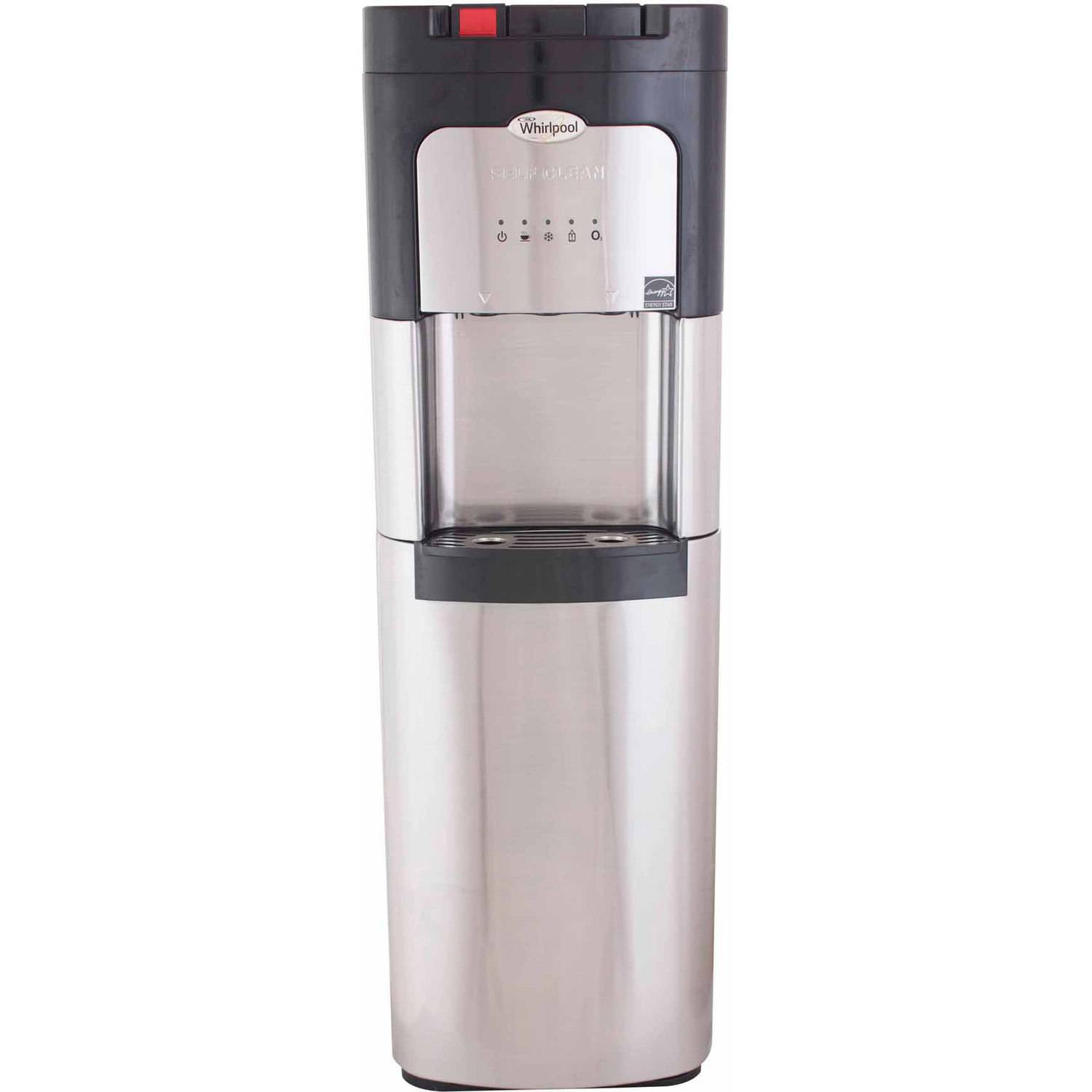 whirlpool stainless steel bottomload water dispenser water cooler with self clean and 5