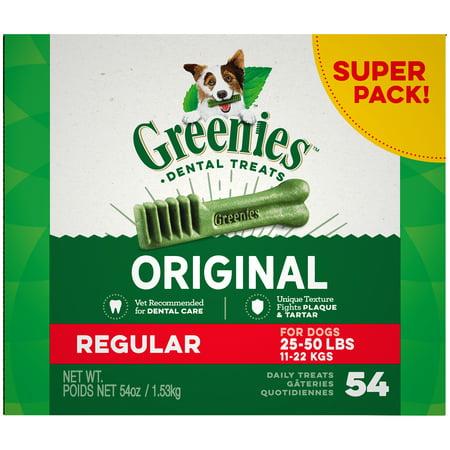 Jumbo Greenies (GREENIES Original Regular Size Natural Dental Dog Treats, 54 oz. Pack )