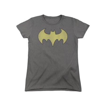 Batgirl Logo (DC Comics Batgirl Logo Distressed Women's T-Shirt)