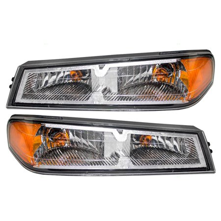 Side Replacement Signal Lamp (Driver and Passenger Park Signal Side Marker Light Lamp Replacement for Chevrolet Pickup Truck 20936079 15851202 )