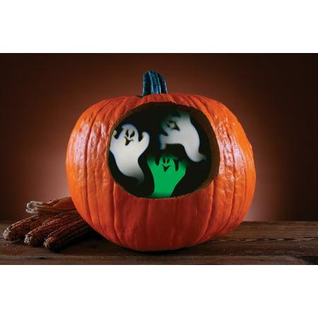 Fun World Ghost Pumpkin Projector Pumpkin Carving Accessory, 3.5