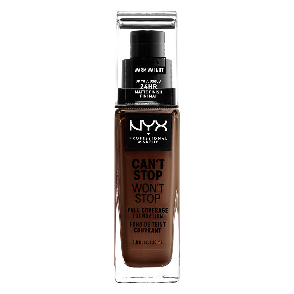 NYX Professional Makeup Can't Stop Won't Stop Full Coverage Foundation, Warm Walnut