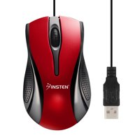 17a97a04622 Product Image Insten USB Optical Scroll Wheel USB 2.0 Mouse, Red / Black