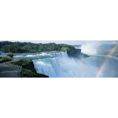 American Falls Niagara Falls NY USA Canvas Art - Panoramic Images (18 x 6)
