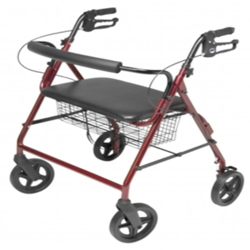 Lumex Walkabout Imperial w/ Contoured Backbar - Re 4-Wheel Rollator