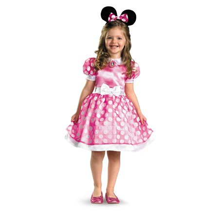Minnie Mouse Clubhouse Classic Toddler Costume - 2T (2T, As Shown) - Minnie Mouse Halloween Costume Adult