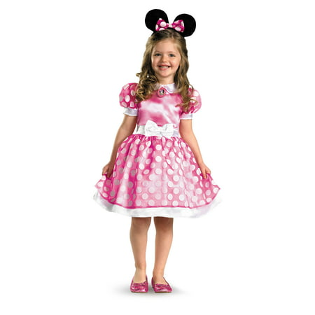 Minnie Mouse Clubhouse Classic Toddler Costume - 2T (2T, As Shown) (Pink Minnie Mouse Halloween Costume)