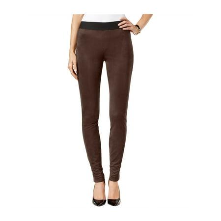 I-N-C Womens Faux Suede Casual Leggings rawhide 2P/29 - Petite - image 1 de 1