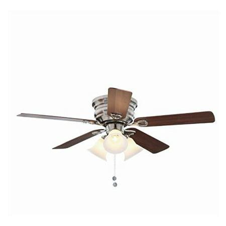 Hampton Bay Clarkston 44 In. Brushed Nickel Ceiling Fan with Light