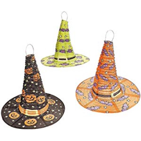 Halloween Witch Hat Lanterns 3 Pcs Per - Easy To Make Halloween Lanterns