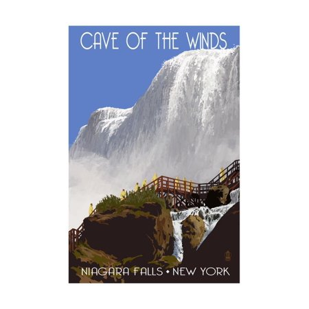 Niagara Falls, New York - Cave of the Winds Close Up Print Wall Art By Lantern