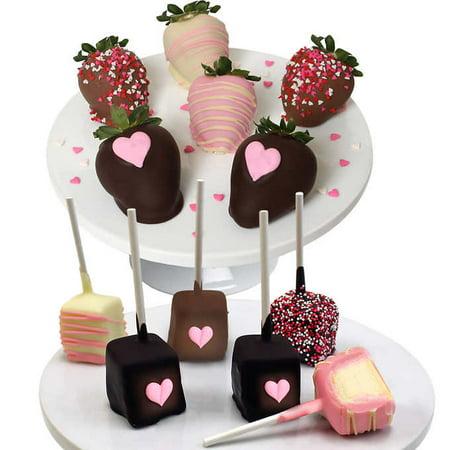 Belgian Chocolate Covered Heart Strawberries   Cheesecake