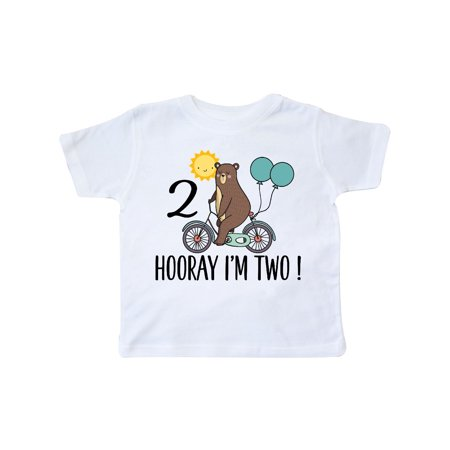 2nd Birthday Bear On Bicycle 2 Year Old Toddler (Shift 2 Bikes)