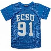 Big Boy Elizabeth City State Vikings S2 Ladies Sequins Tee [Royal Blue - S]
