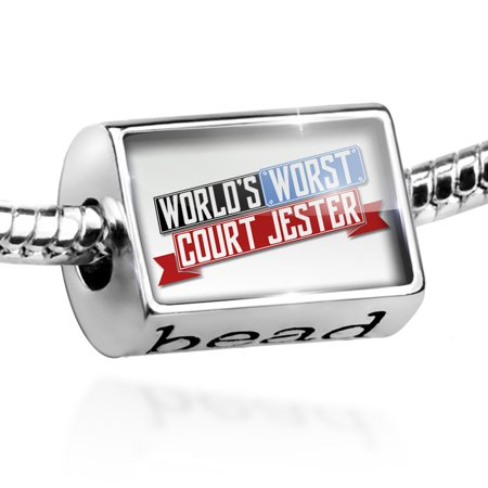 Bead Funny Worlds worst Court Jester Charm Fits All European Bracelets