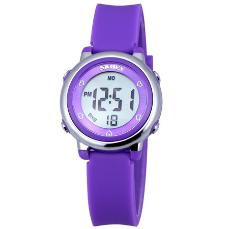 Zeiger Kids Watches Sports Cool Young Girls Boys Teen Student Watch, Time Teacher children -Purple